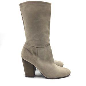Nine West Suede Mid-Calf Heeled Boot